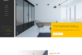 Free Classy Interior Design Website HTML Template