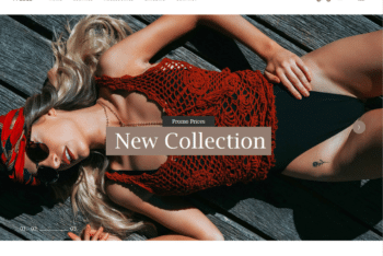 Free Modern Daring Clothing Line HTML Template