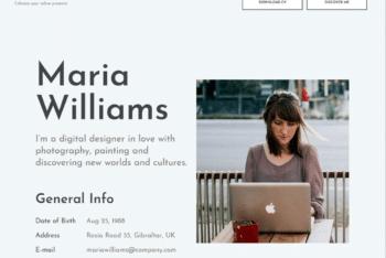 Free Minimalist Portfolio Page HTML Template