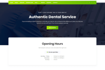 Free Clean Dental Service HTML Template