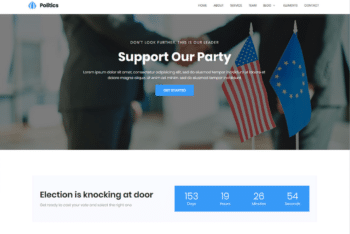 Free Serious Political Website HTML Template