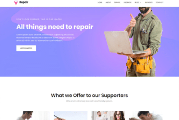 Free Handy Repair Website HTML Template