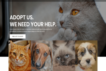 Free Online Animal Shelter HTML Template