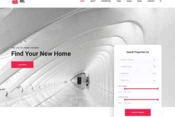 Free Elegant Property Selling Website HTML Template