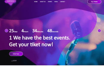 Free Wonderful Event Website HTML Template