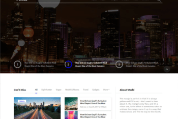 Free Proper World News Website HTML Template