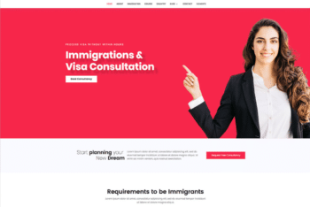 Free Professional Immigration Services HTML Template