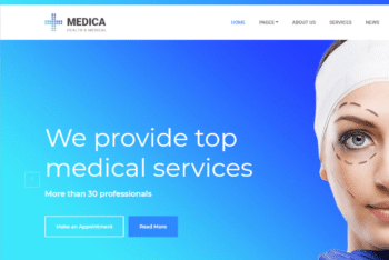 Free Top Medical Service Website HTML Template