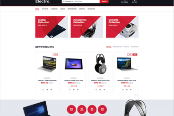 Free Online Electronic Devices HTML Template