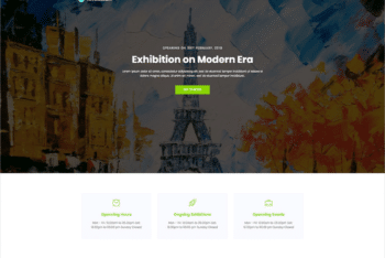 Free Classy Art Museum Website HTML Template