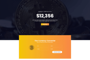 Free Bitcoin Cryptocurrency Platform HTML Template