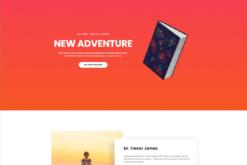 Free Book Title Landing Page HTML Template