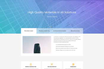 Free Advanced Construction Service HTML Template
