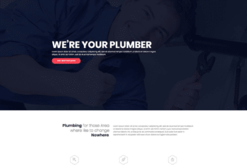 Free Online Plumbing Service HTML Template