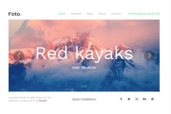 Free Extreme Nature Photography HTML Template