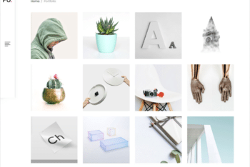 Free Clean Minimalist Portfolio HTML Template