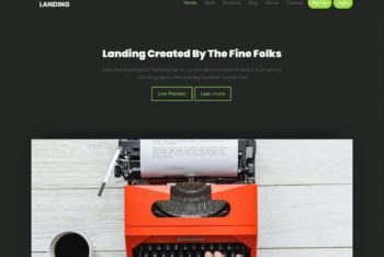 Free Freelancer Landing Page HTML Template