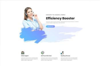 Free Call Center Website HTML Template