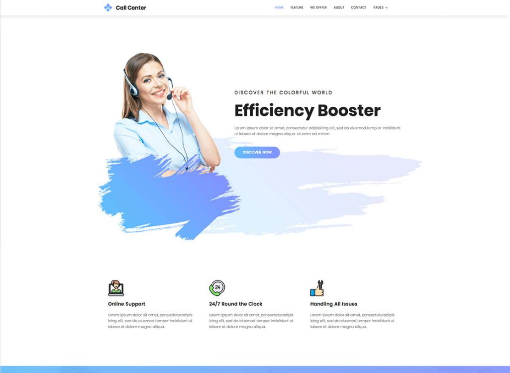 Call center operators free free presentation template for google.