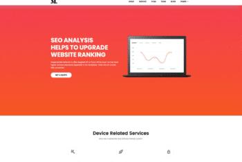 Free Modern SEO Agency Website HTML Template