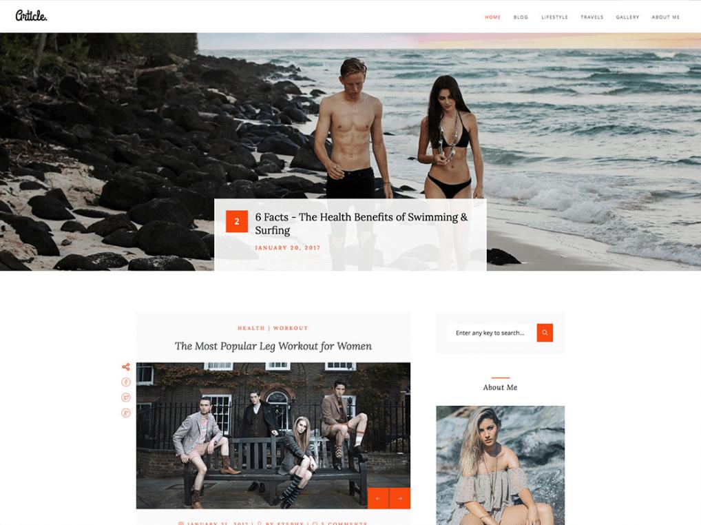 Stylish Blog Website