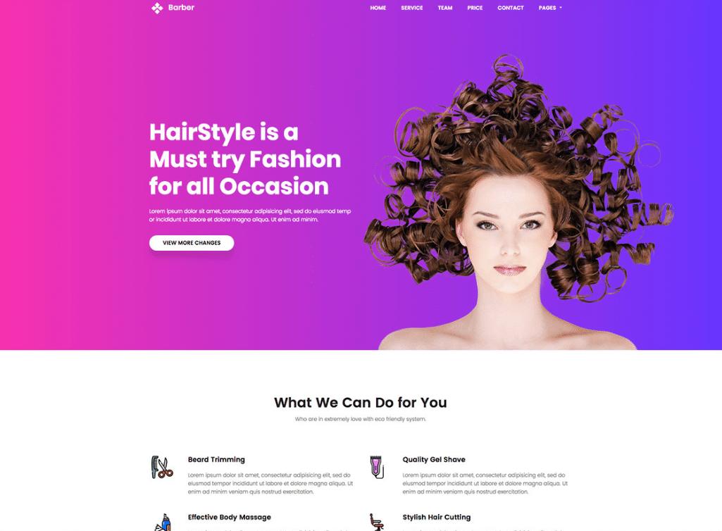 Elegant Barber Website