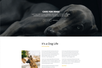 Free Dog Breeder Website HTML Template