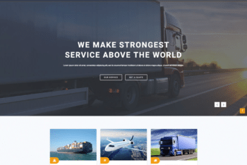 Free Transportation Plus Logistics HTML Template