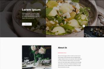 Free Expensive Restaurant Website HTML Template