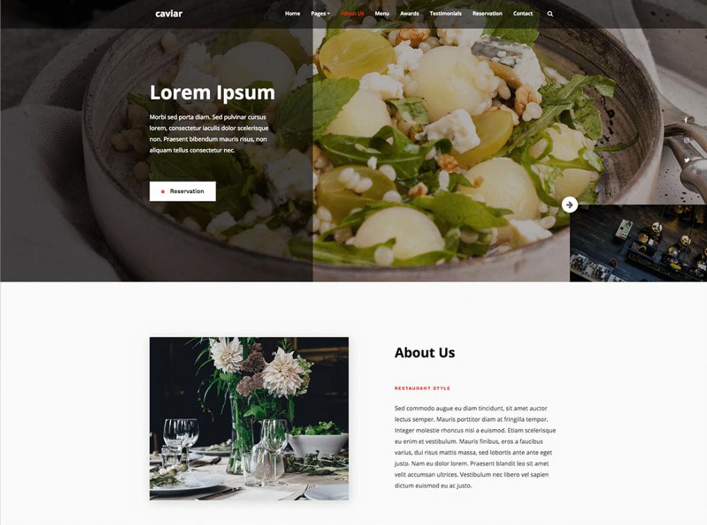 Expensive Restaurant Website