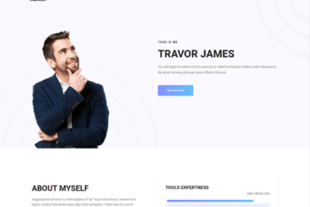 Free Classy Minimal Online Resume HTML Template