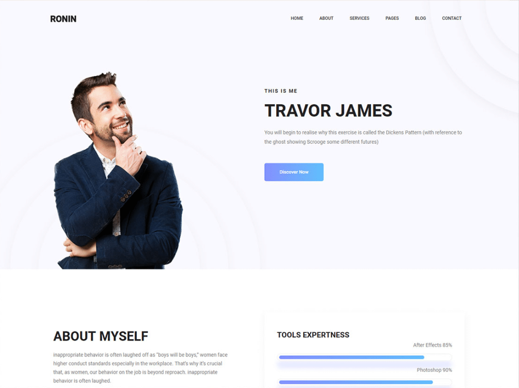 Online Resume Html Template.Free Classy Minimal Online Resume Html Template Designhooks