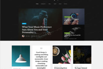 Free Philosophical Topics Blog HTML Template