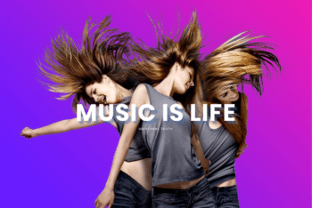 Free Energetic Music Website HTML Template