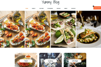 Free Awesome Foodie Blog HTML Template