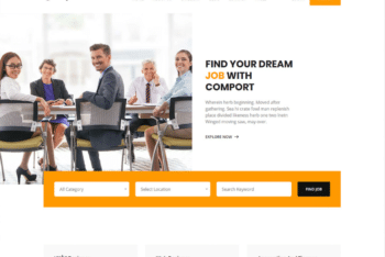 Free Organized Job Search HTML Template