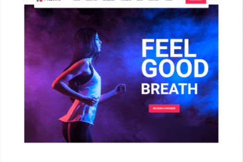 Free Feel Good Fitness Website HTML Template