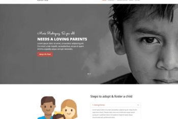 Free Orphan Children Charity HTML Template