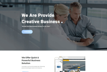 Free Business Consultation Website HTML Template
