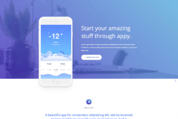 Free Exciting App Landing Page HTML Template