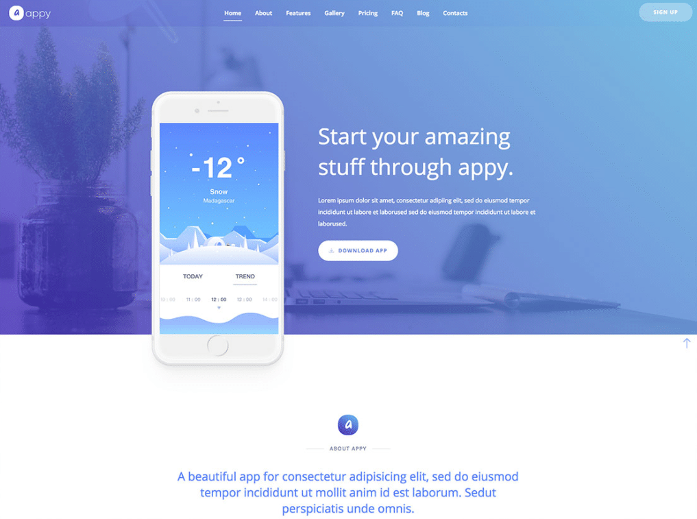 Exciting App Landing Page