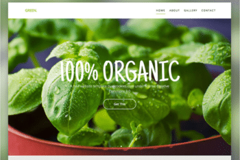 Free Organic Greenery Store HTML Template