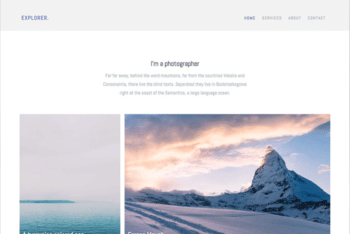 Free Tranquil Nature Photographer HTML Template
