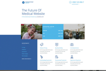 Free Futuristic Medical Website HTML Template