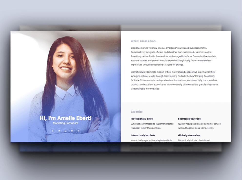 free elegant online cv html template