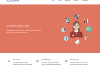 Free Market Analyst Website HTML Template