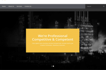 Free Metal Industry Website HTML Template