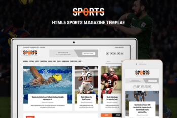 Free Intense Sports Online Magazine HTML Template