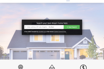 Free Modern House Real Estate HTML Template