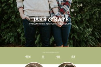 Free Sweet Simple Wedding HTML Template